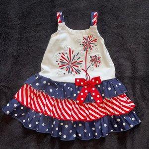 $10 Sale Bonnie Baby 6-9M American Patriotic Dress